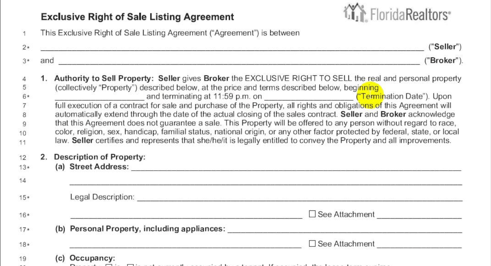 Can You Terminate A Real Estate Listing Agreement And If So How Whiterock
