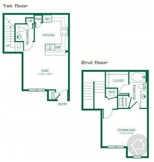 1/1.5 813 sqft floor plan