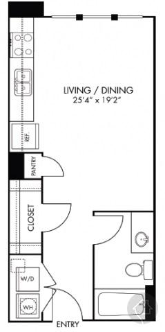 0/1 467 sqft floor plan
