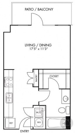 0/1 501 sqft floor plan