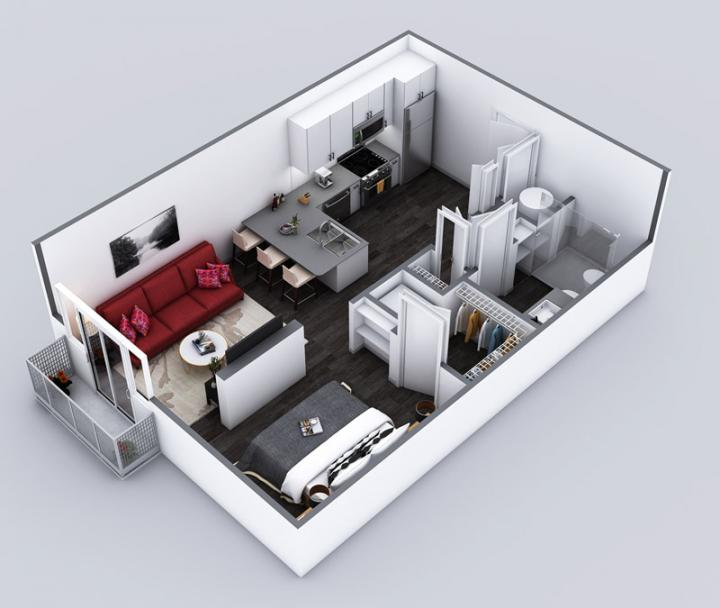 0/1 572 sqft floor plan
