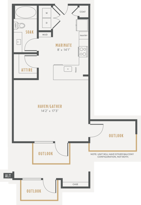 0/1 538 sqft floor plan