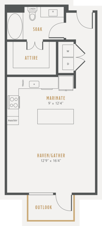 0/1 558 sqft floor plan