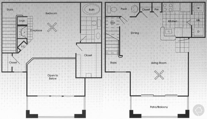 1/1.5 1034 sqft floor plan