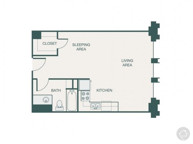 0/1 502 sqft floor plan