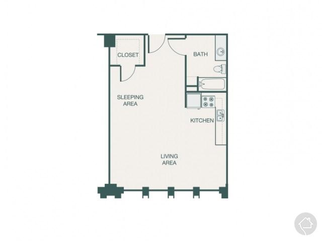 0/1 583 sqft floor plan