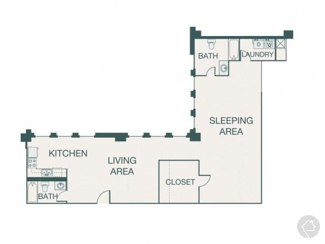1/2 1229 sqft floor plan