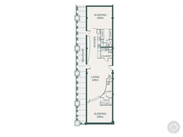 2/1.5 1594 sqft floor plan