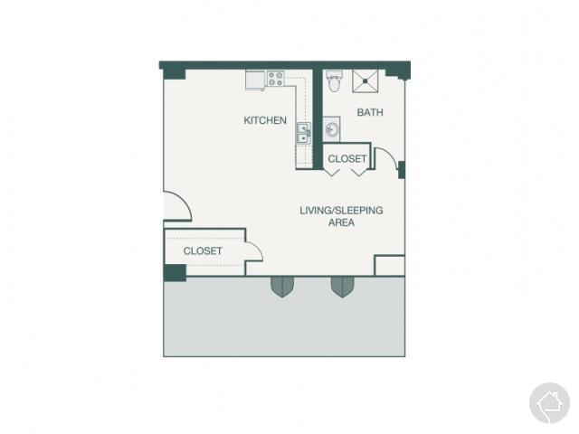 0/1 552 sqft floor plan