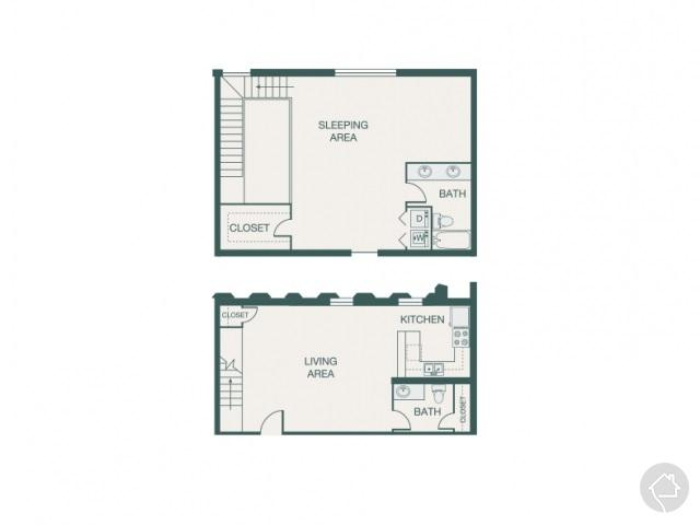 1/2 1165 sqft floor plan