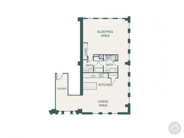 1/1.5 1445 sqft floor plan
