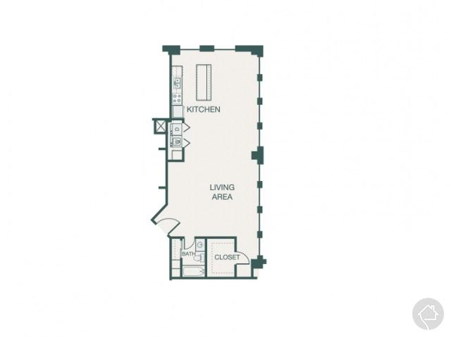 2/2 1161 sqft floor plan