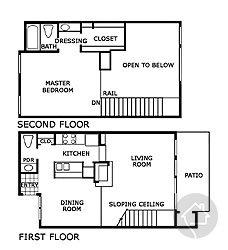 1/1.5 846 sqft floor plan