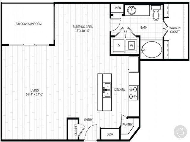 0/1 776 sqft floor plan