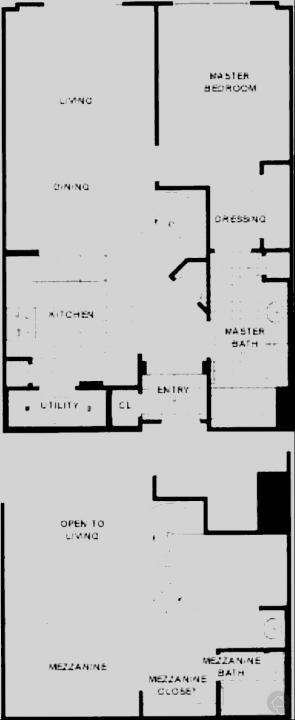 2/2 998 sqft floor plan