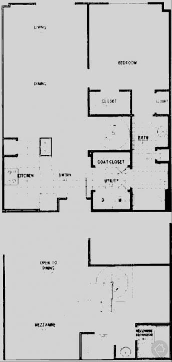 2/2 1112 sqft floor plan