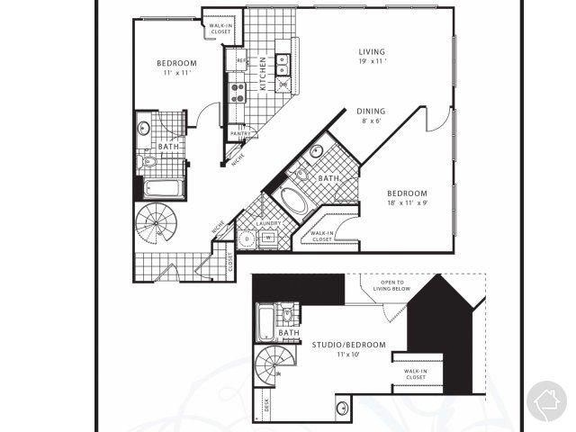 3/3 1592 sqft floor plan