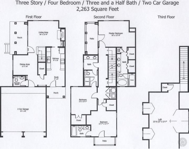 4/3.5 2263 sqft floor plan
