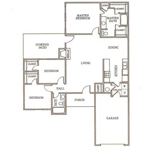 3/2 1593 sqft floor plan