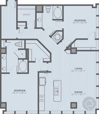 2/2 1512 sqft floor plan