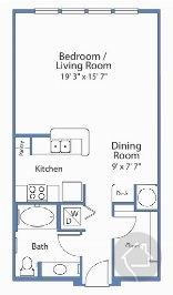 0/1 668 sqft floor plan