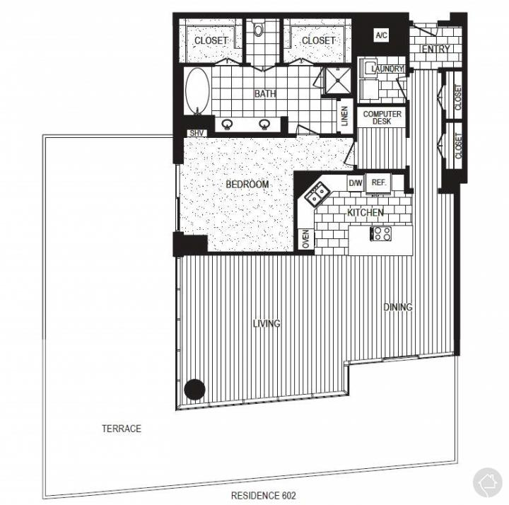 1/1 2616 sqft floor plan