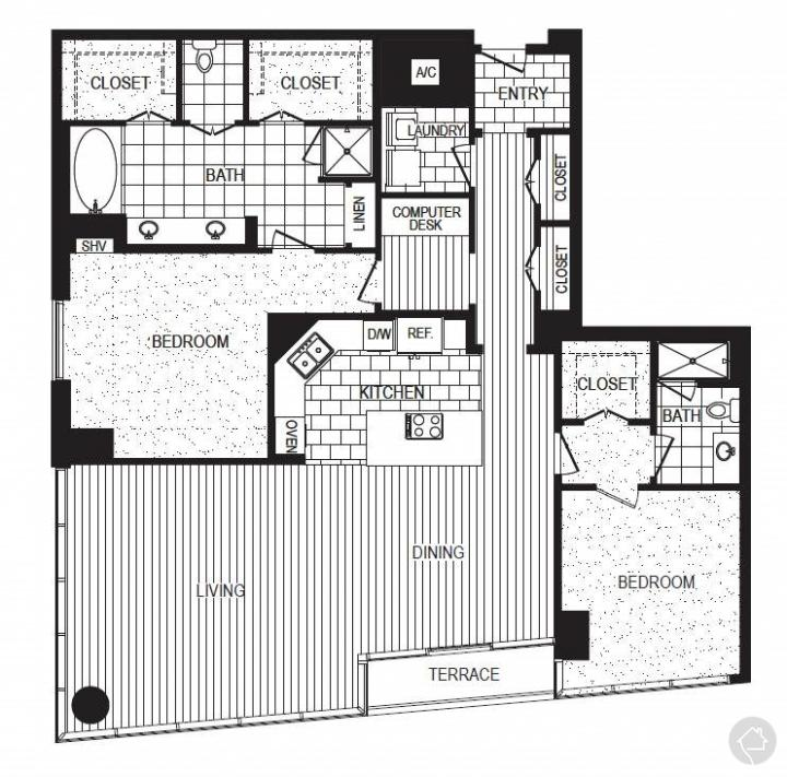 2/2 1911 sqft floor plan