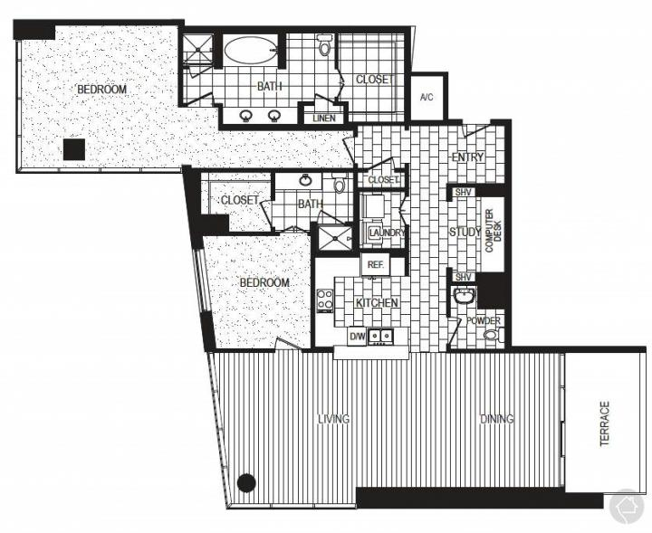 2/2 2017 sqft floor plan