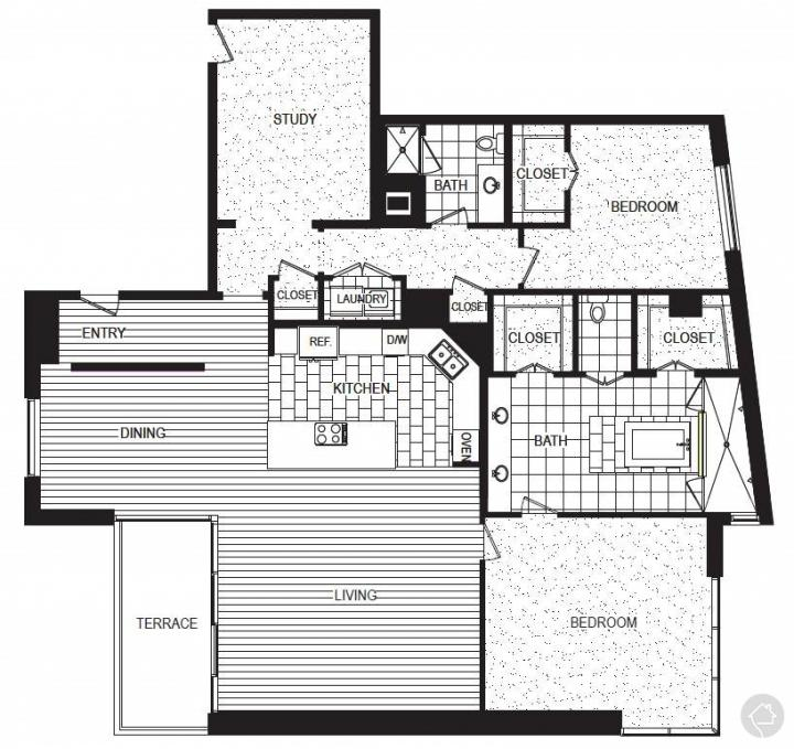 2/2 2401 sqft floor plan