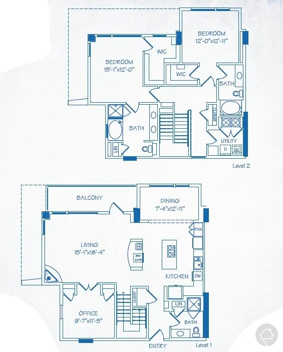 3/3 2140 sqft floor plan