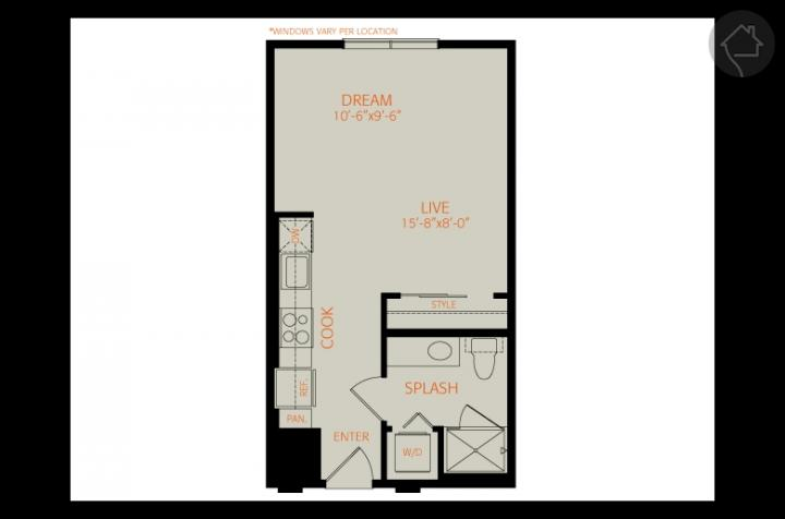 0/1 451 sqft floor plan