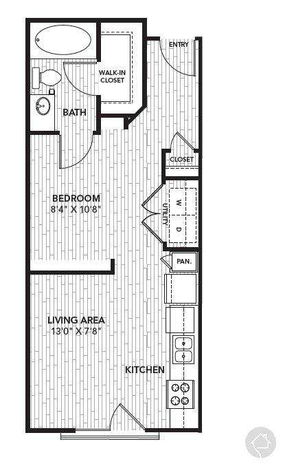 0/1 518 sqft floor plan