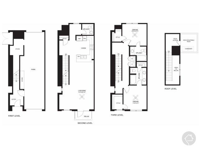 2/2.5 1544 sqft floor plan