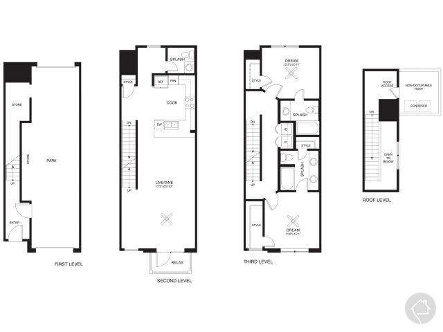 2/2.5 1427 sqft floor plan