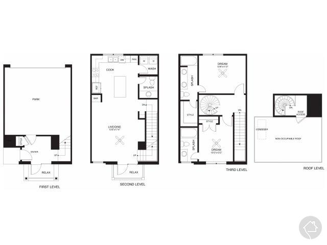 2/2.5 1269 sqft floor plan